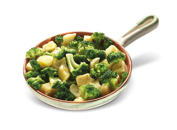 Side dish of Broccoli and Potatoes - Frozen Food Gias_1