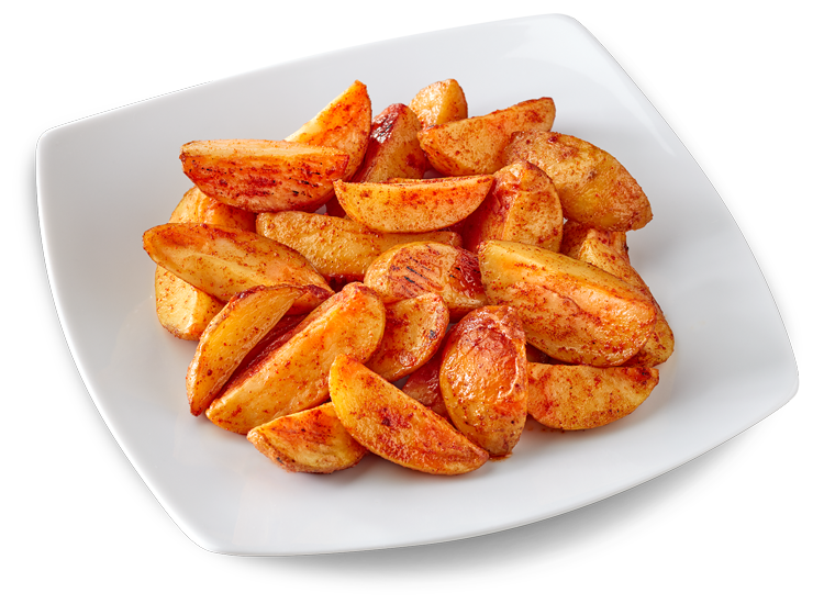 "Potatoes ""Patata della Sila PGI"" with paprika peel"