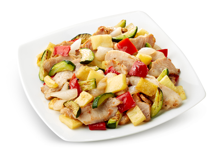 Chicken Kebab and Grilled Vegetables - Frozen Food Gias_1