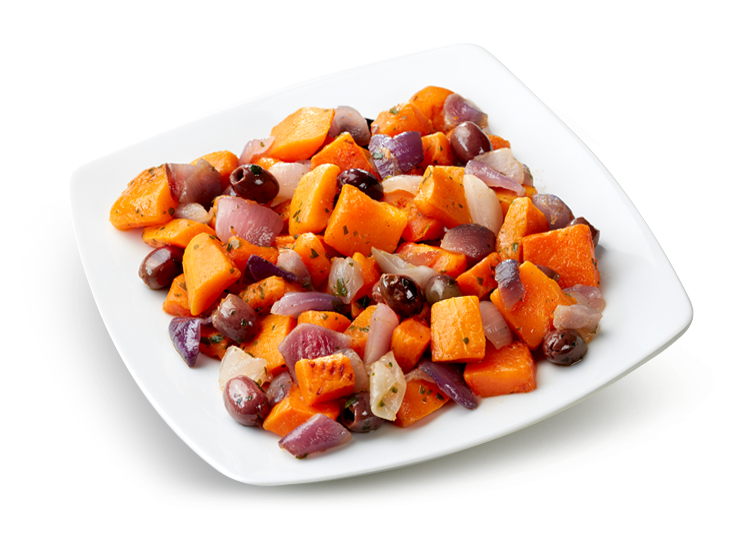 "Grilled Pumpkin Side Dish, ""Cipolla Rossa di Tropea Calabria PGI"" and Olives - Frozen Food Gias_1"