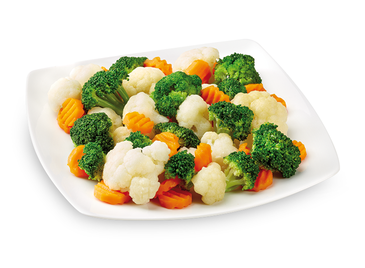 Side dish with broccoli, cauliflower and carrots - Frozen Food Gias_1
